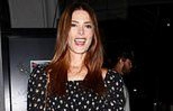 Ashley Green steps out looking effortlessly chic as she arrives at a dinner date