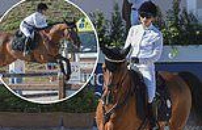 Mary-Kate Olsen places THIRD at equestrian tournament in Rome