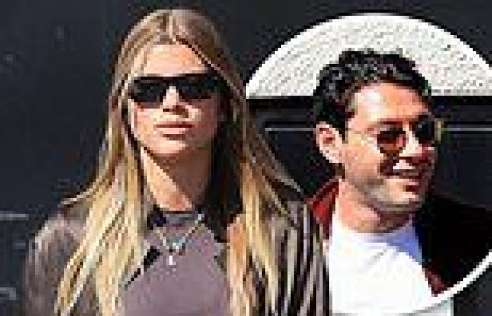 Sofia Richie is seen stepping out for lunch with her boyfriend Elliot Grainge ...