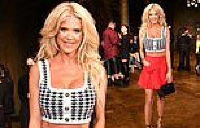 Victoria Silvstedt attends theAadnevik show at London Fashion Week