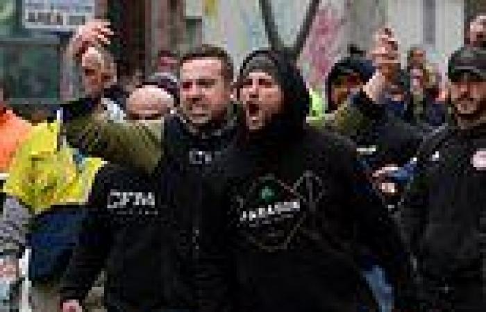 CFMEU boss slams 'fake tradies' at  Melbourne protest which shut down ...