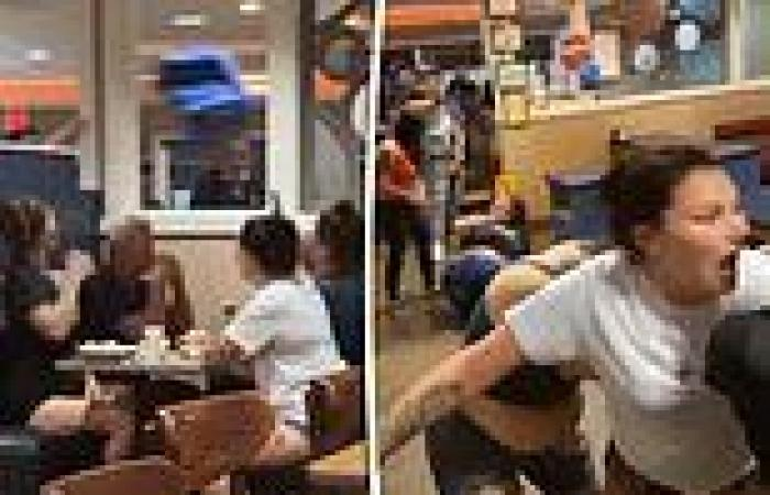 All-out brawl breaks out at Texas iHop after customers start throwing things at ...