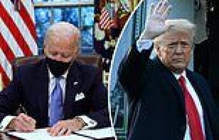 When Biden found letter from Trump in Resolute Desk he put it in his pocket and ...