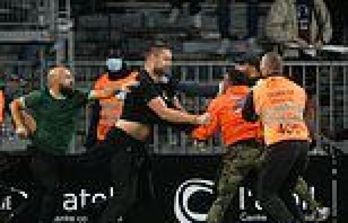 sport news Marseille and Angers fans storm the pitch and fight each other after Ligue 1 ...