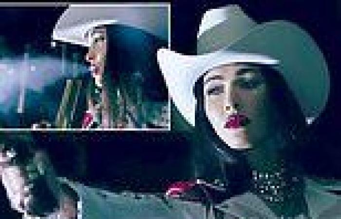 Megan Fox plays a sultry outlaw on a killing spree in designer Philipp Plein's ...