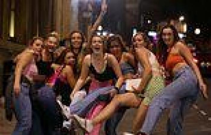 Raucous students drink, dance and vomit in the streetduring Freshers' Week in ...