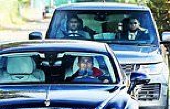 sport news Cristiano Ronaldo closely followed by mystery bodyguards on his way to training