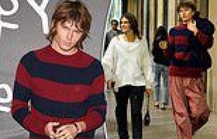Jordan Barrett attends Milan Fashion Week show with handsome new husband ...
