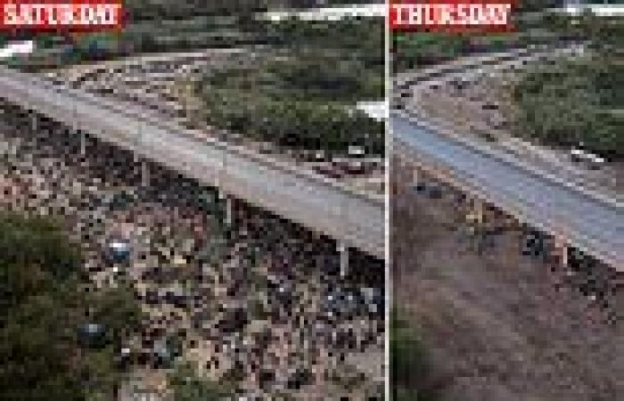 PICTURED: Del Rio camp where 5,000 of 15,000 Haitian migrants remain but 3,000 ...