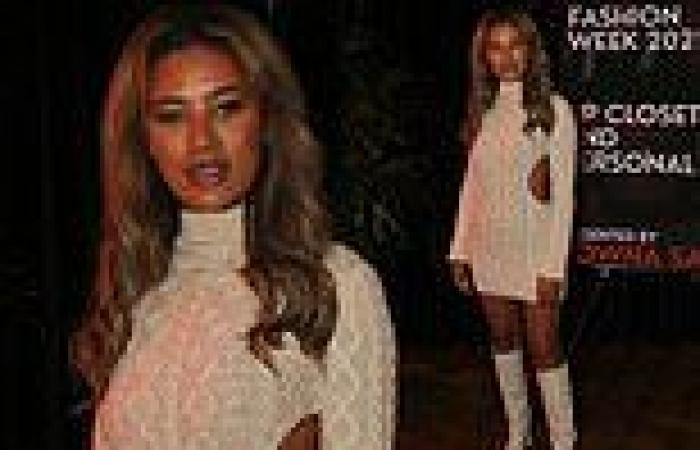 PICTURE EXCLUSIVE: Montana Brown wows at Vas J Morgan's London Fashion Week ...
