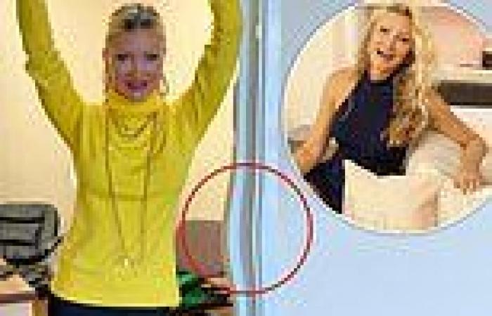 Caprice Bourret suffers an epic photoshop fail as nearby doorframe suspiciously ...
