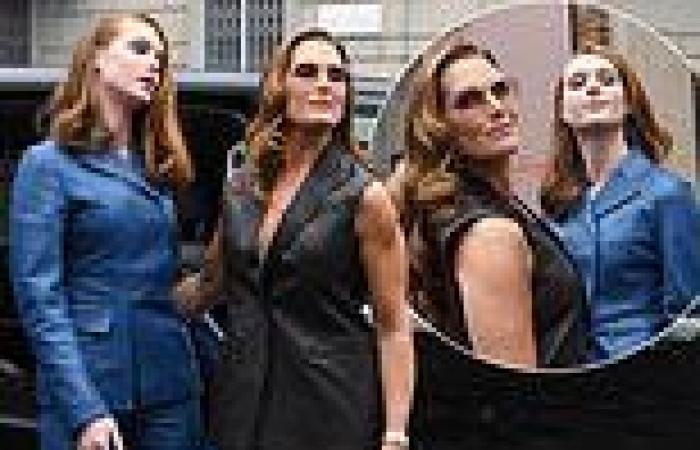 Brooke Shields, 56, and lookalike daughter Grier Henchy, 15, at Ferragamo's ...