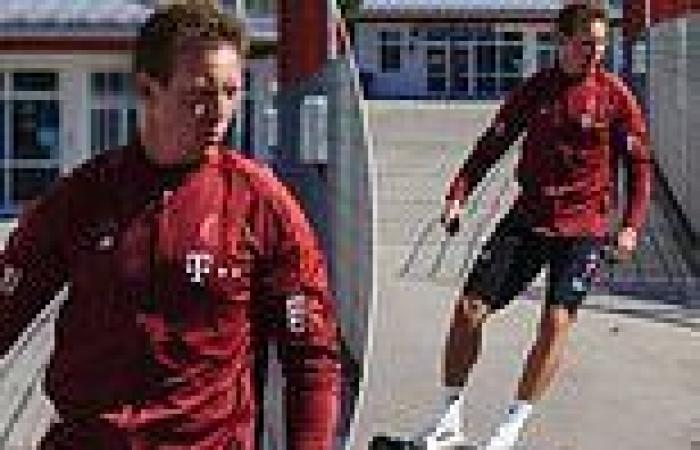sport news Julian Nagelsmann skateboards to Bayern training with Manchester United and Man ...