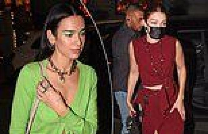 Ab-baring Dua Lipa and Gigi Hadid enjoy dinner together in Milan after Fashion ...