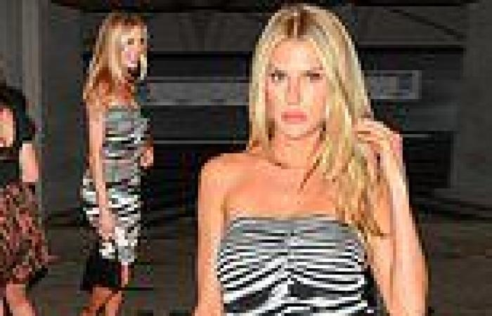 Charlotte McKinney brings the wow factor as she leaves LA hotspot flashing a ...