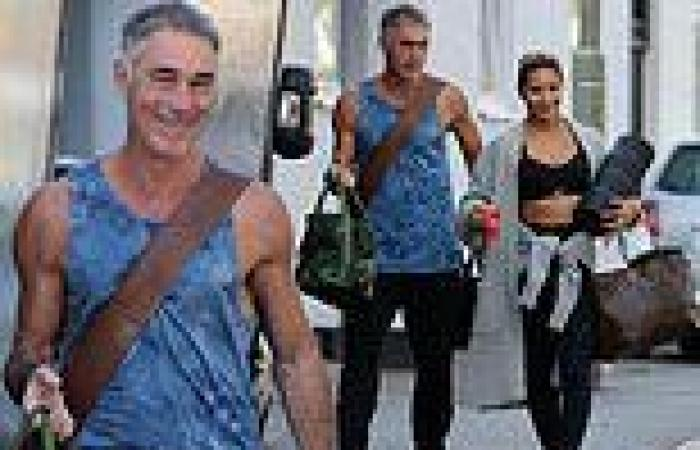 Hunky Greg Wise and Karen Hauer spotted heading into Strictly rehearsals after ...