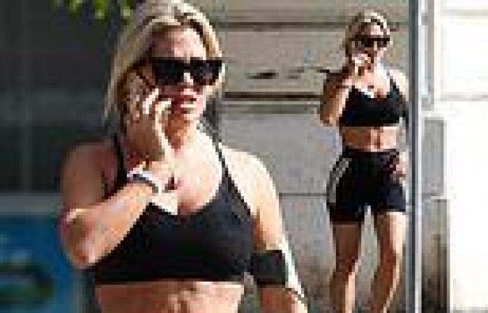 Bianca Gascoigne showcases her taut abs in Rome as she prepares for Italy's ...