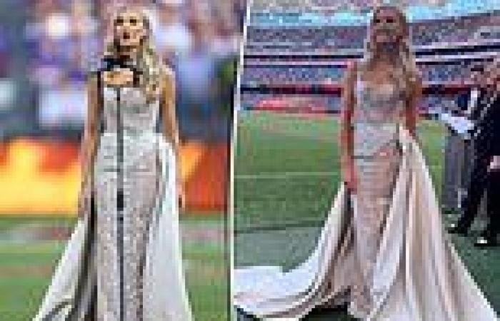 All the details of opera singer Amy Manford's stunning AFL Grand Final couture ...