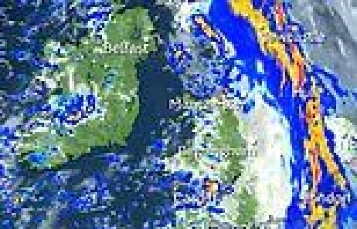 UK weather: Atlantic cold front will sweep in storms and heavy rain from TODAY