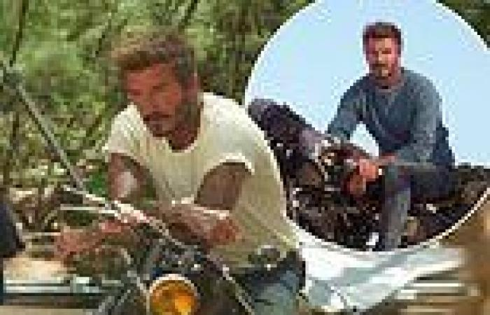 David Beckham looks suave as he takes fans behind the scenes of his latest ...