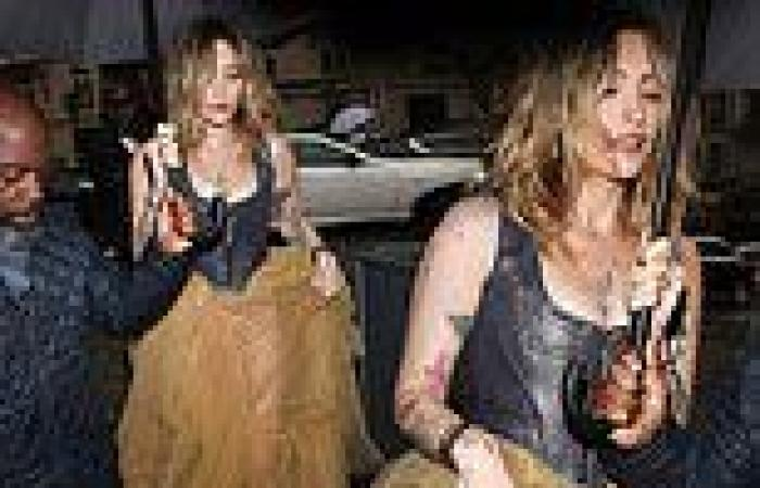 Paris Jackson looks stunning in a corset and tulle skirt as she attends Vogue ...