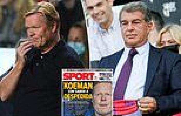 sport news Ronald Koeman 'set for showdown talks on his future with Barcelona president ...