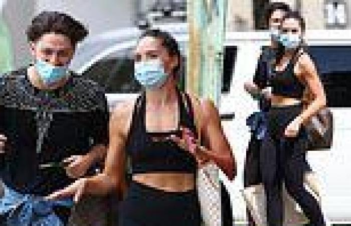 Olympia Valance shares a laugh with her Dancing With The Stars partner
