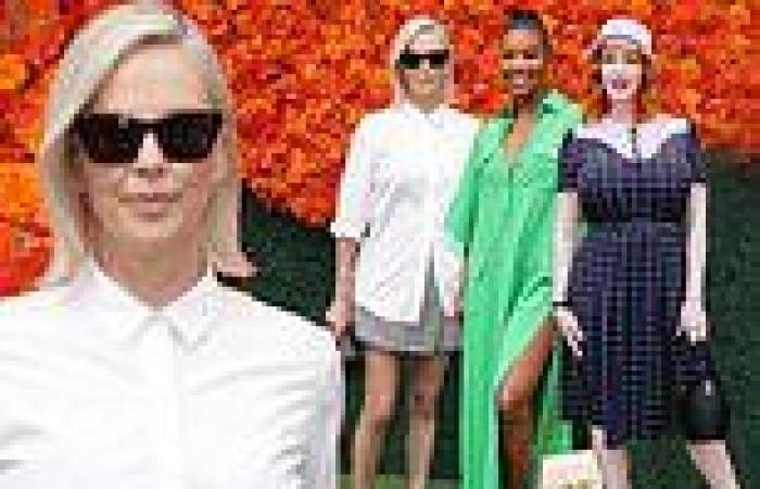 Charlize Theron, Gabrielle Union anc Christina Hendricks lead at the Veuve ...