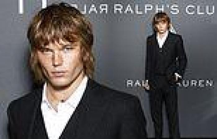 Jordan Barrett attends the launch ofRalph Lauren perfume atParis Fashion Week