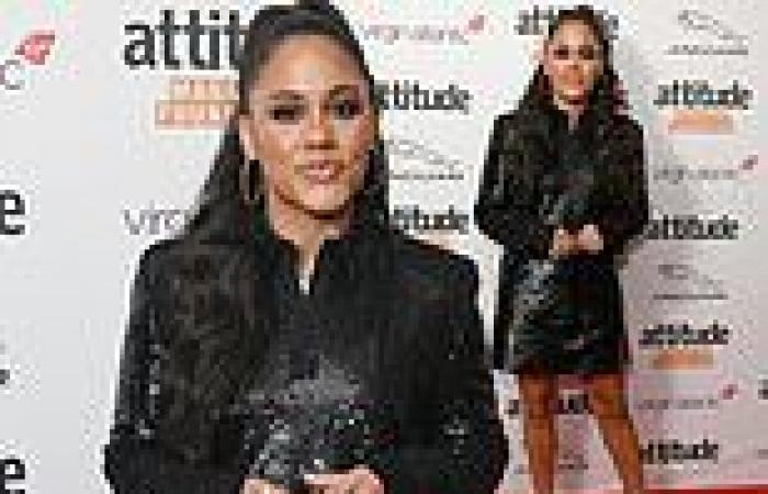 Attitude Awards 2021: Alex Scott puts on a leggy display in black sequined ...