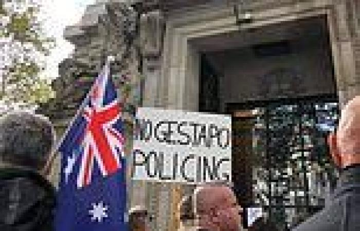 Bizarre moment protests break out against Australia's lockdown in London