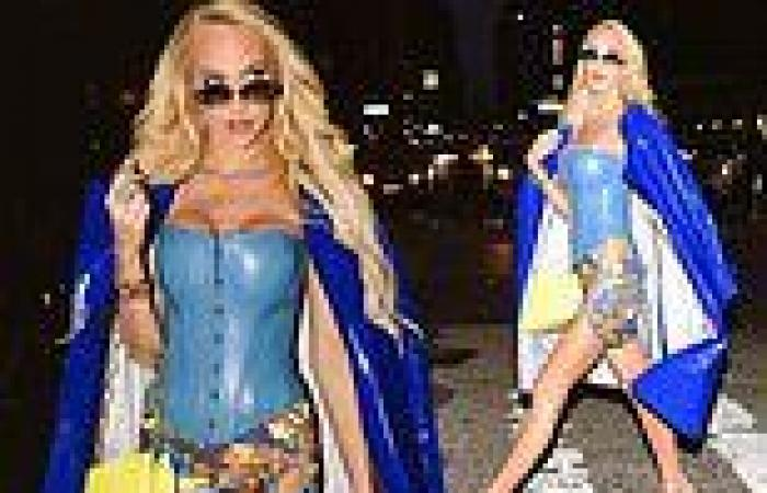 Selling Sunset's Christine Quinn showcases her slim physique in sky blue corset ...