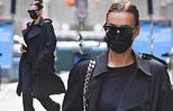 Irina Shayk is every bit the doting mom as she carries daughter Lea, four, out ...