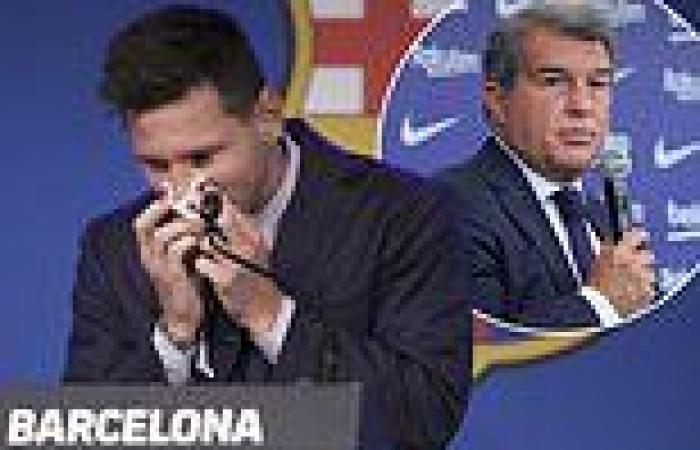 sport news Barcelona president Joan Laporta claims he hoped Lionel Messi 'would play for ...
