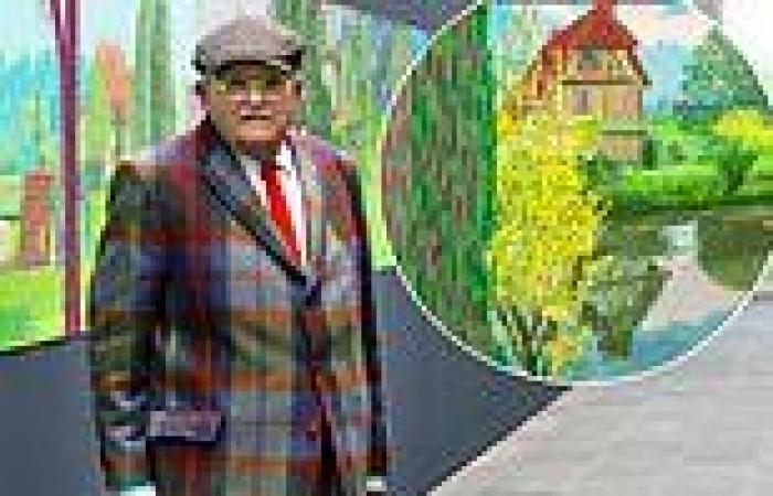 Hockney's 300 feet of spring! Artist David creates 220 landscape pictures on ...