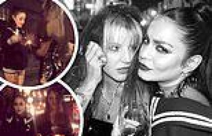Vanessa Hudgens stages 'gothic wedding' with her BFF GG Magree while partying ...