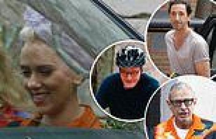 Bryan Cranston, Scarlett Johansson, Adrien Brody and Jeff Goldblum seen on set ...