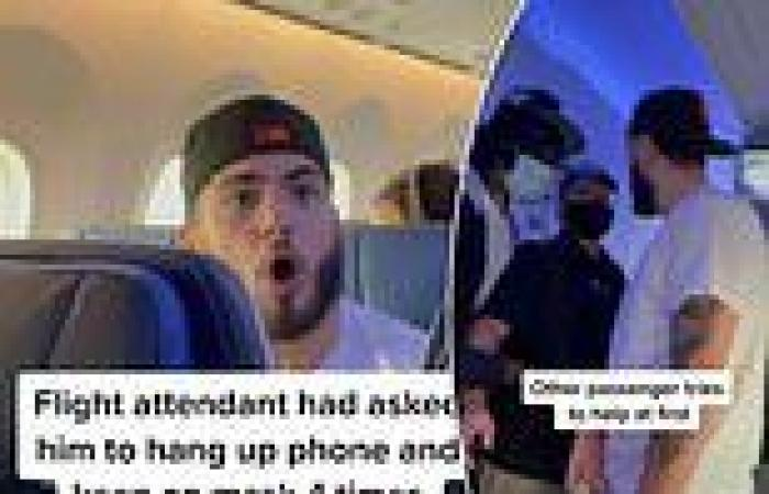 Anti-masker escorted off flight after threatening other passengers