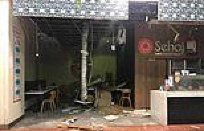 Westfield Mount Druitt west Sydney roof collapses during crazy storm
