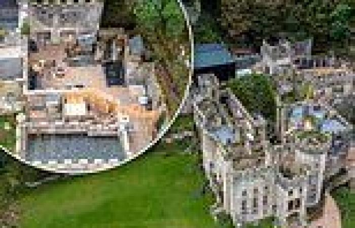 I'm A Celebrity 2021: Aerial shots of Gwrych Castle show new areas being ...