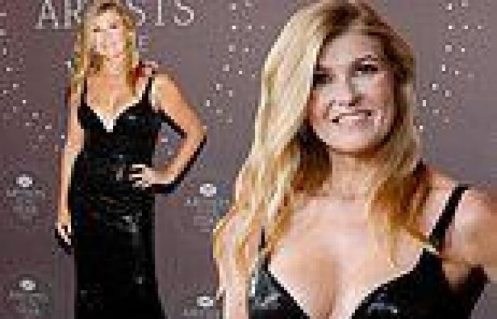 Connie Britton puts on a busty display as she radiates glamour at starry CMT ...