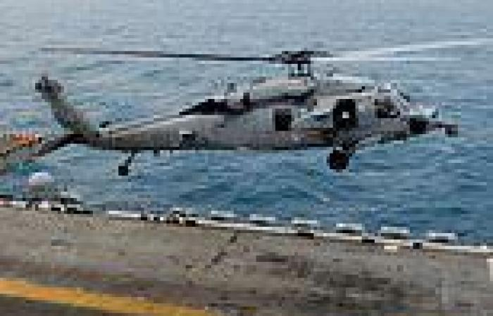 Australian navy helicopter crashes into the Philippine SEa with three crew ...
