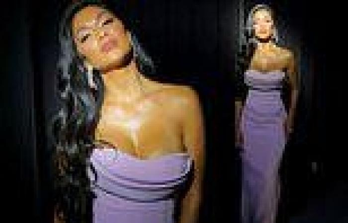 Nicole Scherzinger wears busty lilac gown ahead of The Masked Singer US ...