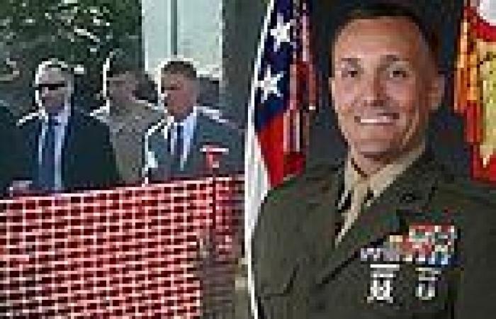 Lieutenant Colonel Stuart Scheller arrives grim-faced for court hearing to ...