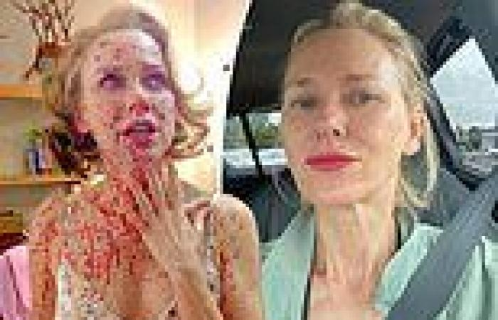 Actress Naomi Watts, 53, flaunts her thespian credentials in blood spatter ...