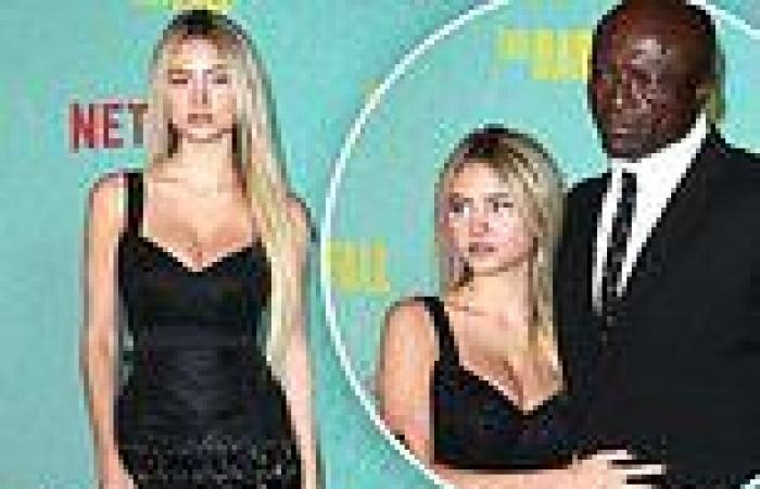 Leni Klum, 17, is model daughter as she accompanies dad Seal to The Harder They ...
