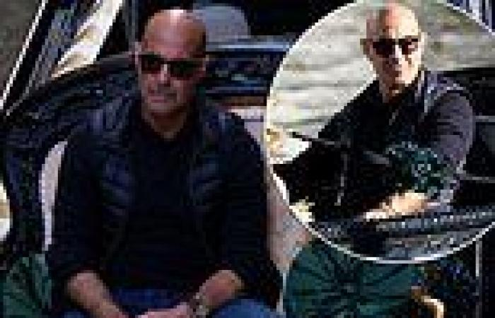 Stanley Tucci enjoys agondola ride inVenice while filming his TV series ...