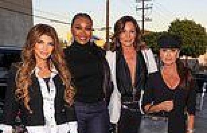Real Housewives stars from four different franchises step out for group dinner ...