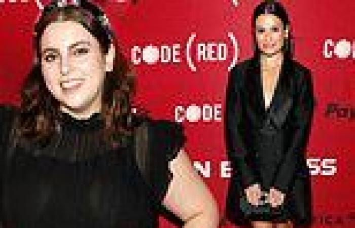 Beanie Feldstein and Lea Michele atlaunch of CODE (RED) to Fight COVID in New ...
