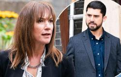 EastEnders: Rainie Cross helps pressure Apostolos into giving Karen Taylor's ...